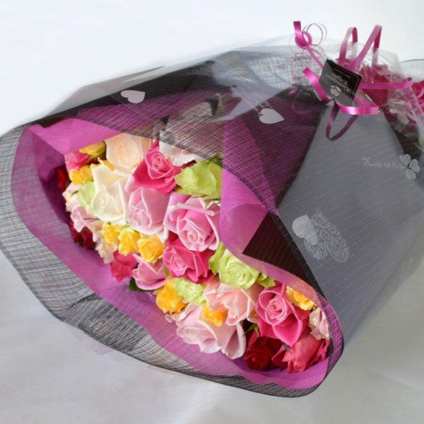 画像1: 33本のバラ花束 (1)
